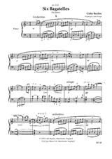 6 Bagatelles for piano