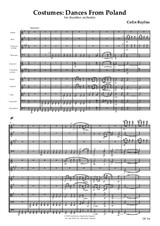 Costumes - Dances from Poland - score and parts